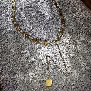 Brass chain belt